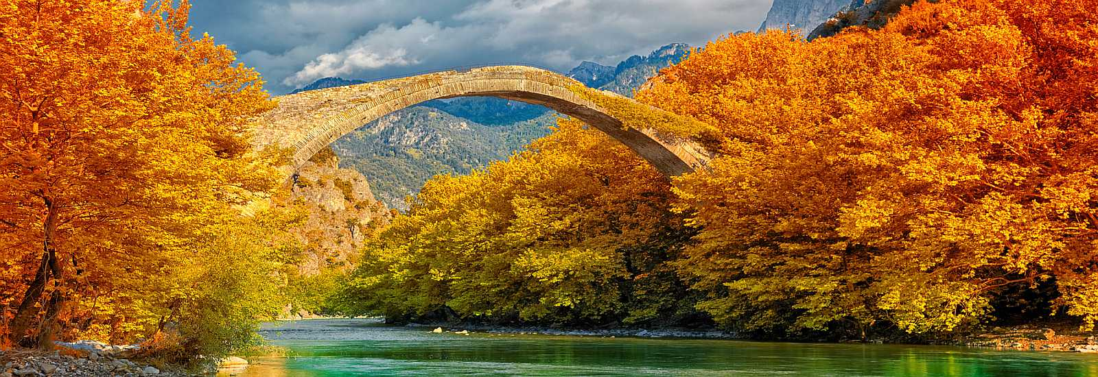 Bridge over Aoos river<span>Konitsa, Greece</span>